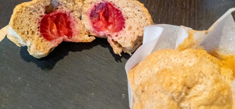 Ricetta fit muffin con avena fragole senza zucchero