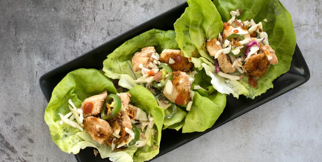 Ricetta fit wrap di lattuga con pollo orientale una ricetta senza carboidrati
