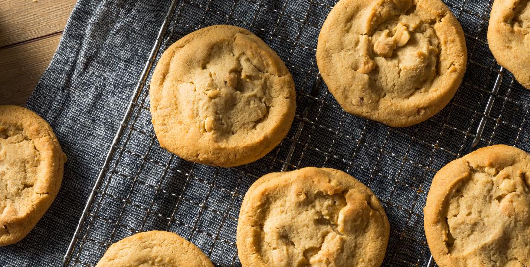 Ricetta fit biscotti al burro d'arachidi senza farina per una dieta ketogenica