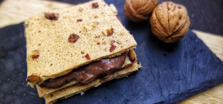Ricetta fit dolce proteico al cioccolato e noci super gustoso