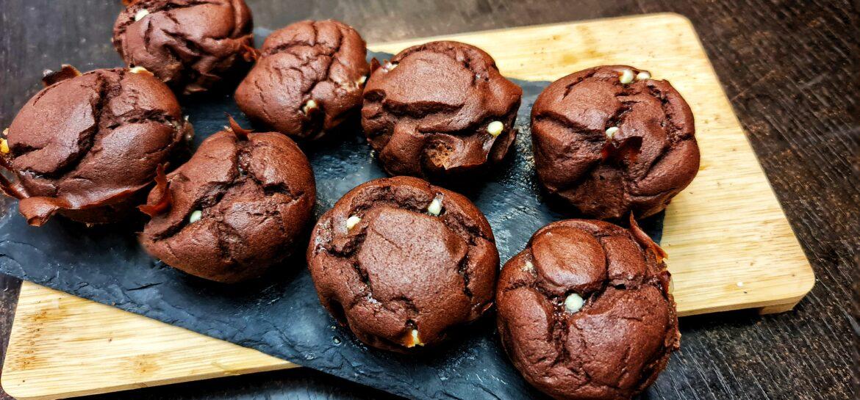 Ricetta fit muffin proteici di riso con cioccolato e banana