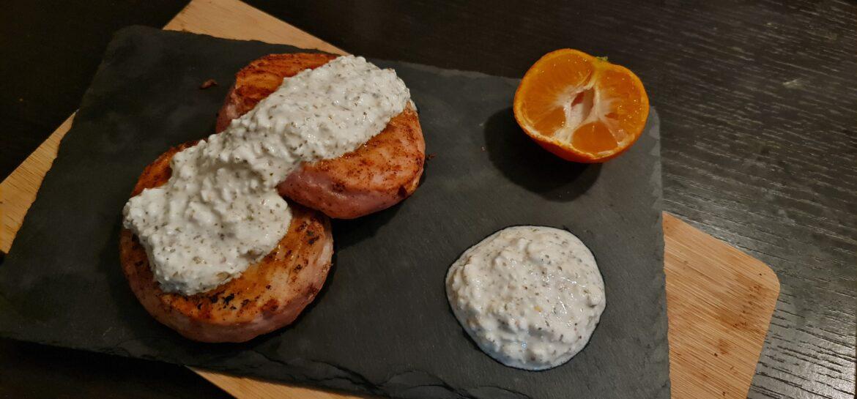 Ricetta fit hamburger di tonno e fiocchi di latte al mandarino